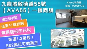舖位推介:九龍城啟德道55號AVA55 一樓商舖