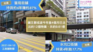 商舖 新聞:市傳鄧成波沽醫局街及水坑口街舖,或繼續沽貨