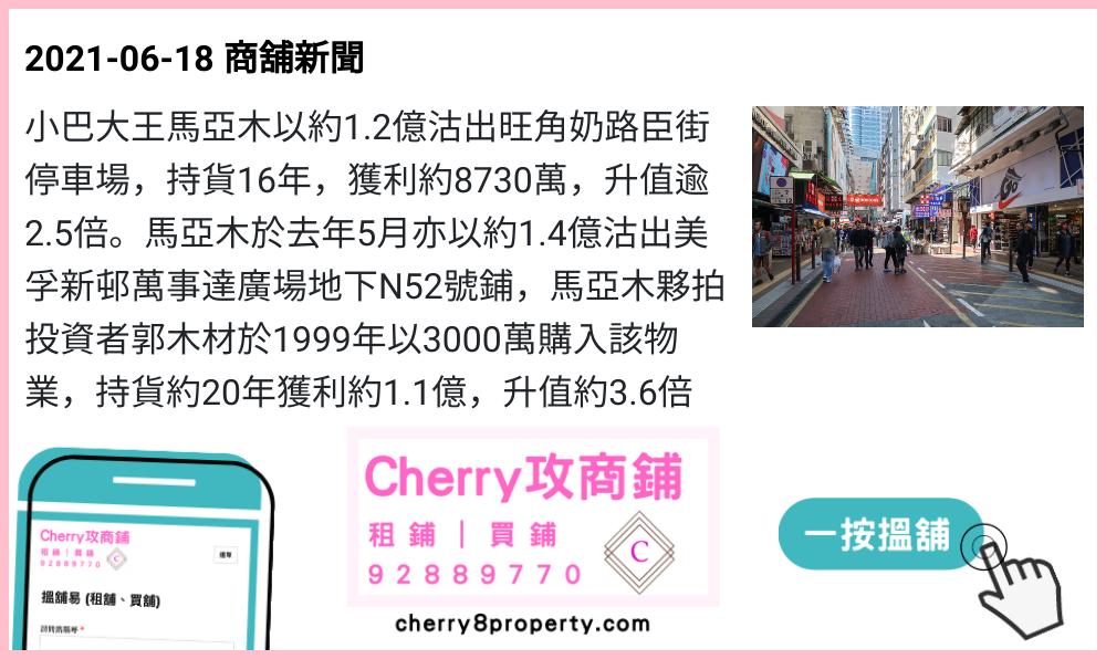 小巴大王馬亞木沽奶路臣街停車場,持貨16年獲利約8730萬